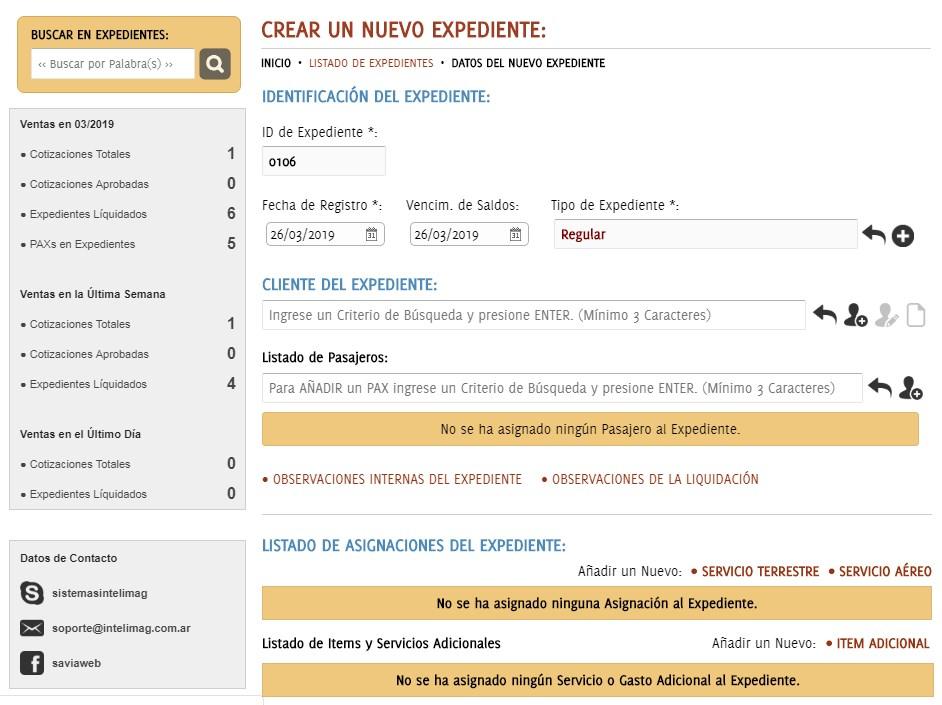 Sistema Administrativo para Agencias de viajes